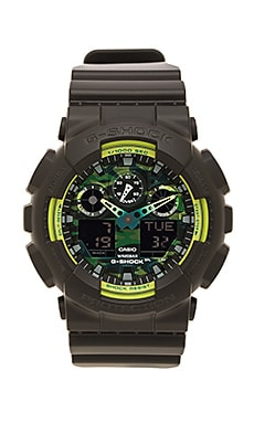 G-Shock GA-100 Sporty Illumi Series in Black