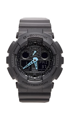G-Shock GA-100 Neon Highlights in Black/Blue
