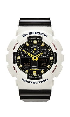 G-Shock GA100 Crazy Color Combi in Black & White