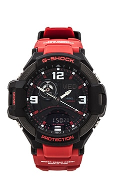 G-Shock GA1000-4B Gravity Master in Red & Black