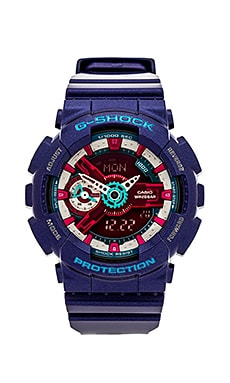 G-Shock GMAS110 G Shock S Series in Black & Purple