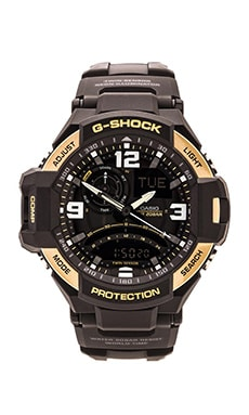G-Shock GA-1000 in Black & Yellow Gold