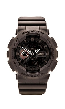 G-Shock GA-110 Military Black in Black & Red