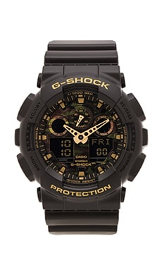 G-Shock GA-100 Camouflage Dial in Black & Camouflage