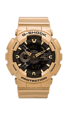 G-Shock GA-110 Gold x Black in Gold