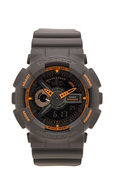 G-Shock GA-110TS in Grey & Yellow