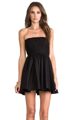 Lux Strapless Dress en Noir