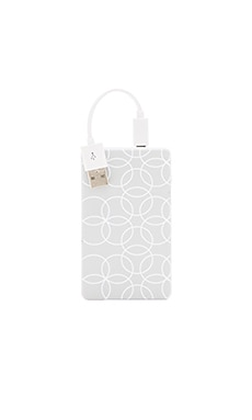 Chic Buds Ashley Slim Power Battery in Grey Circles