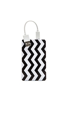 Chic Buds Hannah Slim Power Battery in Black Chevron