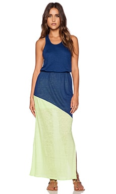 C&C California Two Tone Maxi Dress in Medium Cobalt