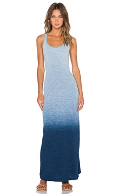 C&C California Keyhole Back Maxi Dress in Indigo