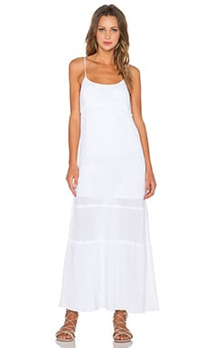C&C California Tiered Maxi Dress in White
