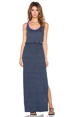 C&C California Open Back Maxi Dress in Navy