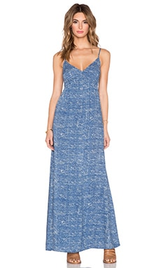 C&C California Printed Maxi Dress in Dutch Blue