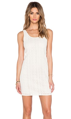 C&C California Lace Tie Back Dress in Vanilla