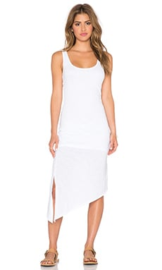 C&C California Asymmetrical Tank Dress in White