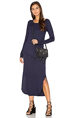 Geri Midi Dress in Navy