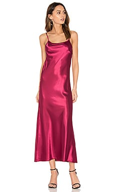 Erin Maxi Dress en Red Velvet