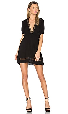 Abri Plunging Mini Dress in Black