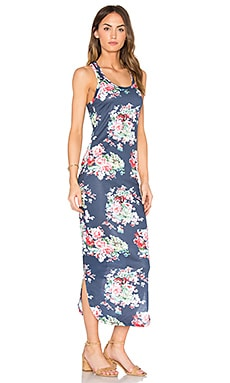 Sophia Racerback Midi Dress in Navy & Multi