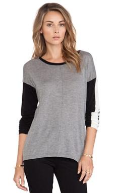 C&C California Colorblocked Sweater in Heather Grey