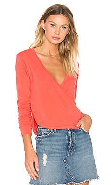Alissa Wrap Pullover in Firecracker