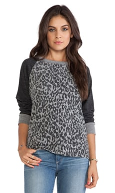 C&C California Animal Printed Sweatshirt in Heather Grey