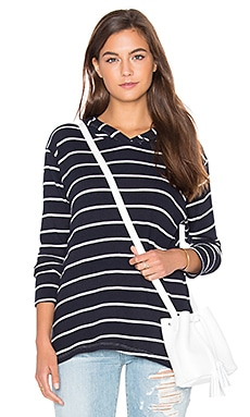 Rebecca Hoodie in Navy & White Stripe