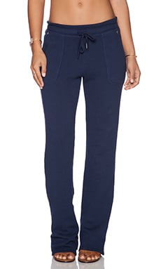 C&C California Fold Over Pant in Navy