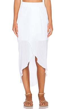 C&C California Hi Low Maxi Skirt in White