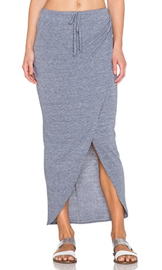 C&C California Wrap Maxi Skirt in Heather Grey