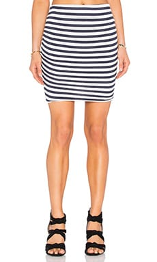 C&C California Ashley Skirt in Stripe