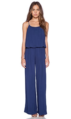 C&C California Tiered Jumpsuit in Medium Cobalt
