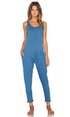 C&C California Crop Jumpsuit in Indigo