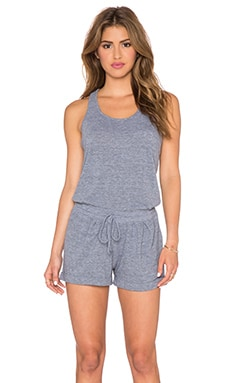 C&C California Sleeveless Romper in Heather Grey