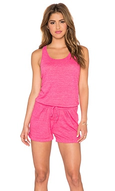 C&C California Sleeveless Romper in Raspberry Sorbet