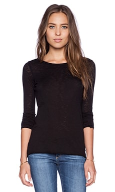 C&C California Slub Jersey Long Sleeve Layering Tee in Black