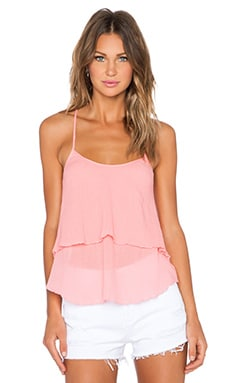 C&C California Ruffle Cami in Salmon Rose