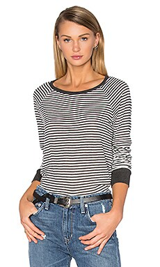 C&C California Kendra Top in White & Charcoal
