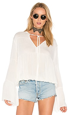 Bijoux Shirred Blouse en Blanc