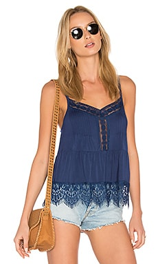 Ivy Lace Sweep Cami in Japanese Indigo