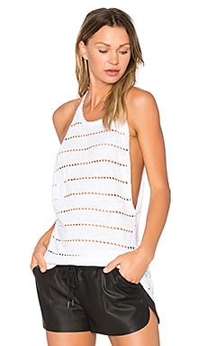 Kenzie Shirttail Sweep Tank in White