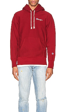 Small Script Hooded Sweatshirt Champion Reverse Weave $61