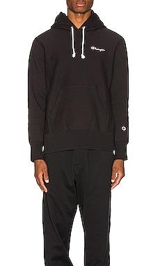 Small Script Hooded Sweatshirt Champion Reverse Weave $135