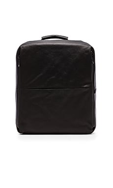 Cote & Ciel Rhine Flat Backpack in Coated Canvas Black