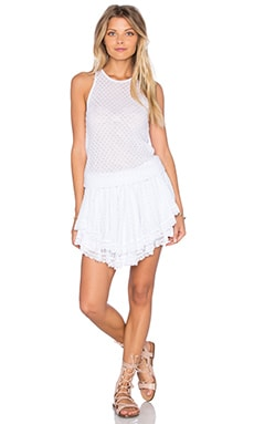 Lucia Tiered Crochet Mini Dress in White