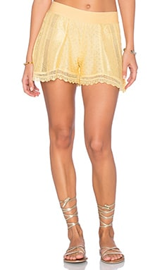 Yana Crochet Shorts in Yellow