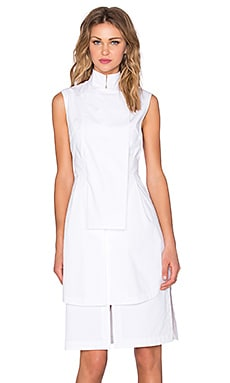 Acler Owen Shirt Dress in White