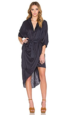 Phoenix Shirt Dress in Midnight