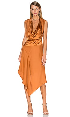 Acler Bennet Silk Dress in Bronze